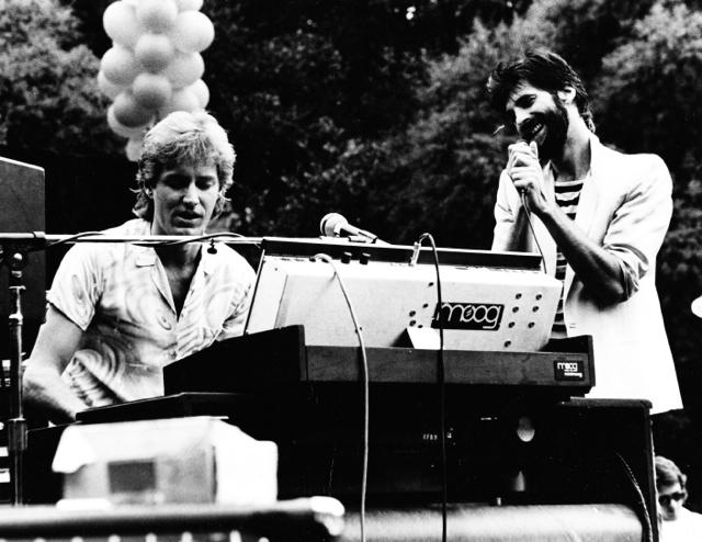Neil with Kenny Loggins Santa Barbara, 1985